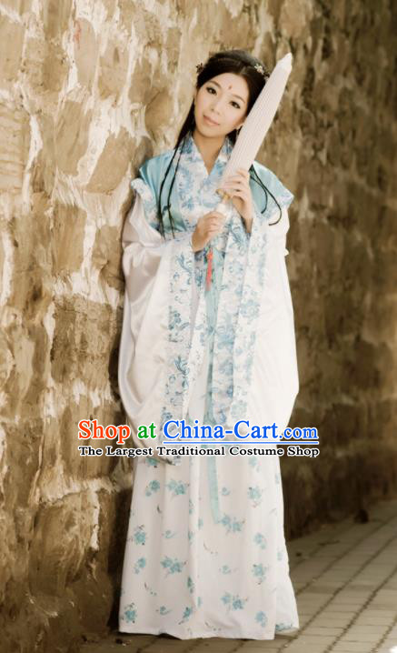 Ancient Chinese Peri Costumes Traditional Ming Dynasty Nobility Lady Hanfu Dress for Women