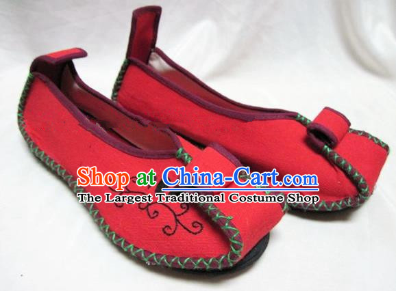 Asian Chinese Shoes Wedding Shoes Traditional Red Hanfu Shoes Embroidered Shoes for Women