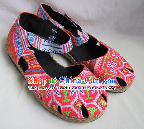 Asian Chinese Traditional Hanfu Shoes Ethnic Batik Shoes for Women