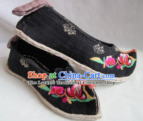 Asian Chinese Traditional Hanfu Shoes Ethnic Handmade Embroidered Shoes for Women