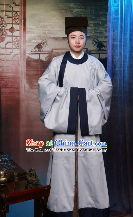 Chinese Ancient Nobility Childe Costumes Traditional Song Dynasty Scholar Robe for Men