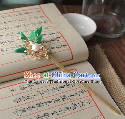Asian Chinese Traditional Hanfu Leaf Hair Clip Ancient Palace Hairpins for Women