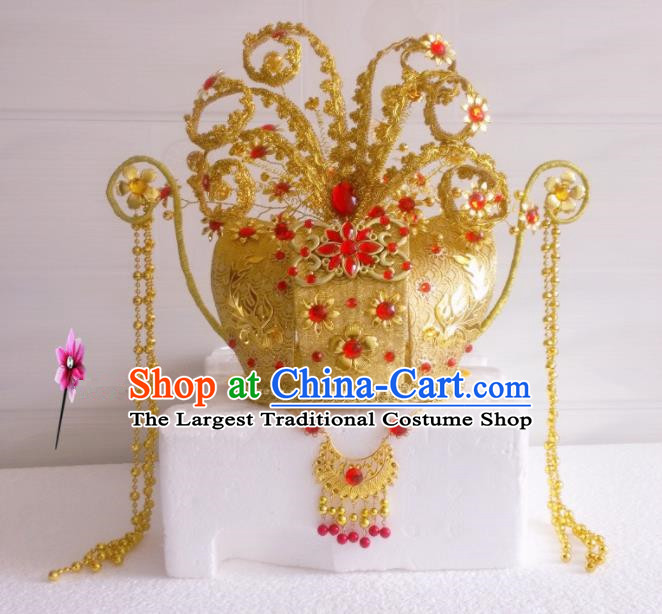 Chinese Classical Hair Accessories Traditional Ancient Queen Wedding Phoenix Coronet Hat for Women