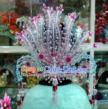 Chinese Classical Beijing Opera Hair Accessories Traditional Ancient Phoenix Coronet for Women