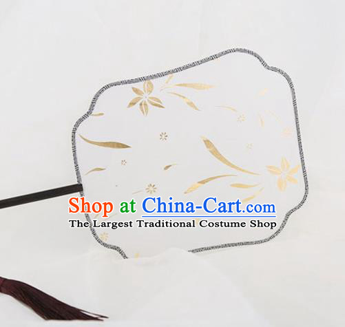 Traditional Chinese Crafts Palace Fans Round Fans Ancient Princess Silk Fan for Women