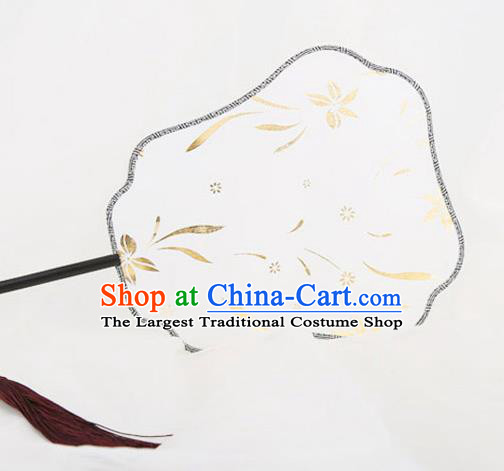 Traditional Chinese Crafts Palace Fans Silk Round Fans Ancient Princess Fan for Women