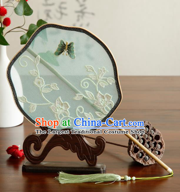 Traditional Chinese Crafts Palace Fans Embroidered Fans Ancient Organza Fan for Women