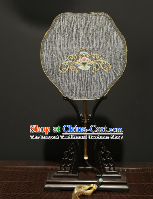 Chinese Ancient Princess Palace Fan Traditional Hanfu Weaving Silk Fans for Women