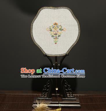 Chinese Ancient Princess Palace Fan Traditional Hanfu Weaving Pure Silk Fans for Women