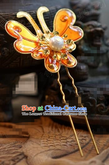 Chinese Ancient Wedding Hair Jewelry Accessories Queen Butterfly Hairpins for Women
