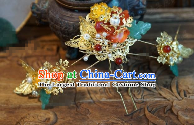 Chinese Ancient Wedding Hair Accessories Palace Queen Hairpins for Women