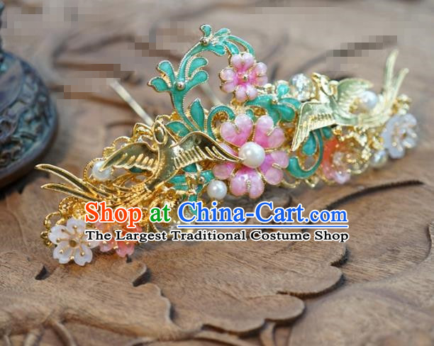 Chinese Ancient Wedding Queen Hair Jewelry Accessories Palace Hair Clip Hairpins for Women