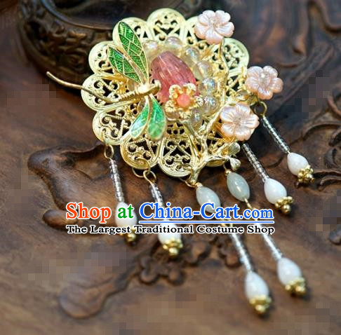 Chinese Traditional Wedding Hanfu Dragonfly Brooch Ancient Bride Palace Jewelry Accessories for Women