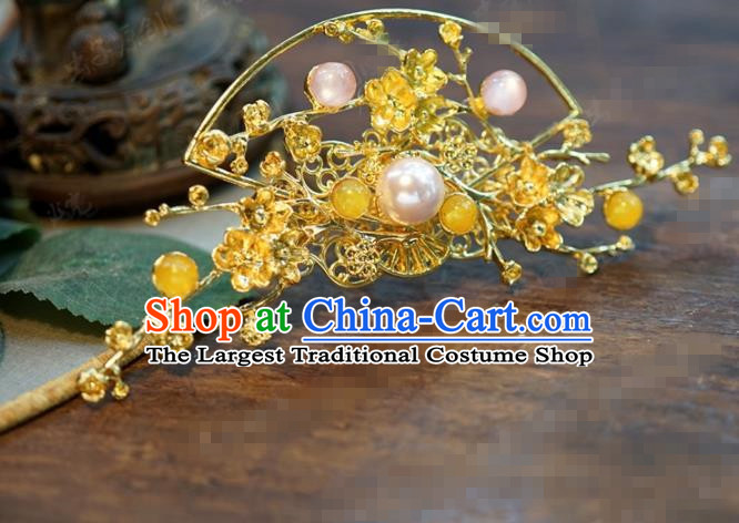 Chinese Ancient Bride Hair Accessories Wedding Golden Hair Stick Hairpins for Women