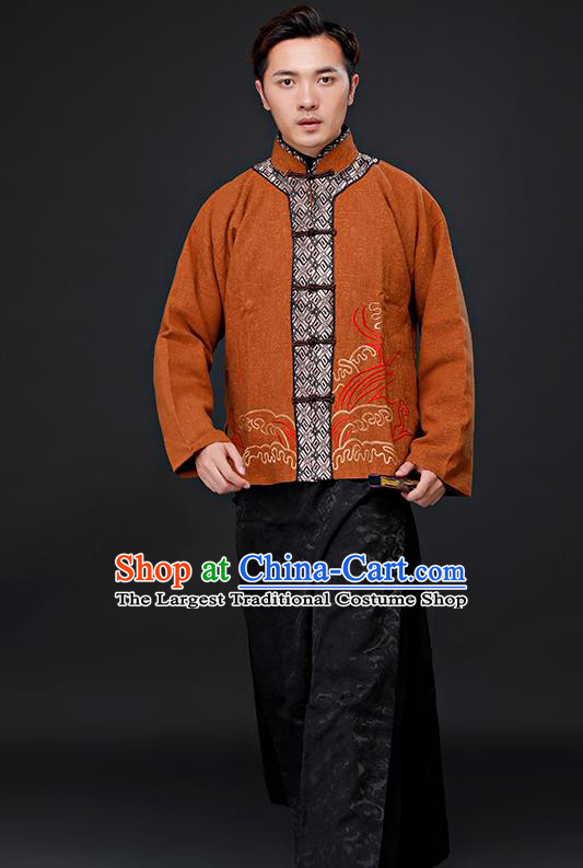 Chinese Ancient Republican Period Drama Childe Costumes Tang Suit Clothing for Men