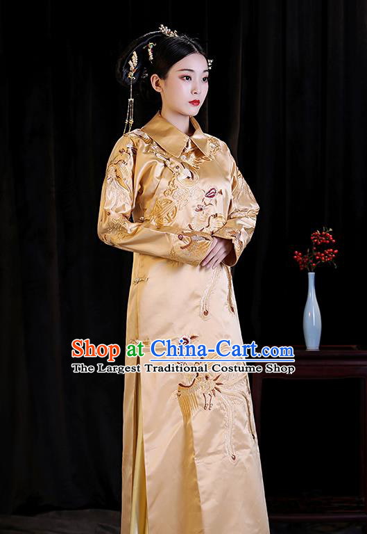Chinese Ancient Drama Queen Clothing Qing Dynasty Manchu Empress Embroidered Costumes and Headpiece for Women