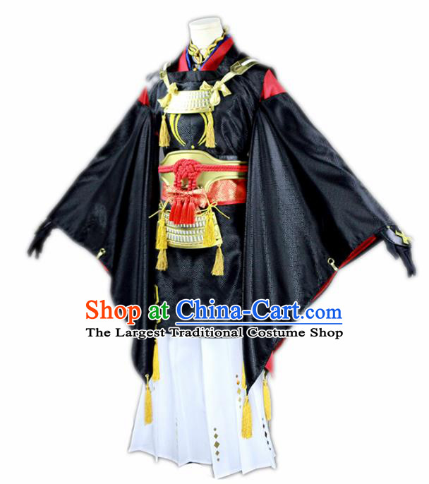 Chinese Traditional Cosplay Nobility Childe Knight Black Costumes Ancient Swordsman Clothing for Men