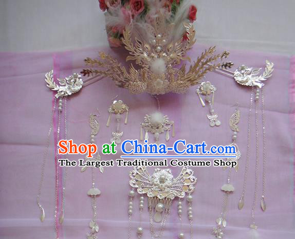 Chinese Traditional Classical Hair Accessories Ancient Princess Phoenix Coronet Hairpins for Women