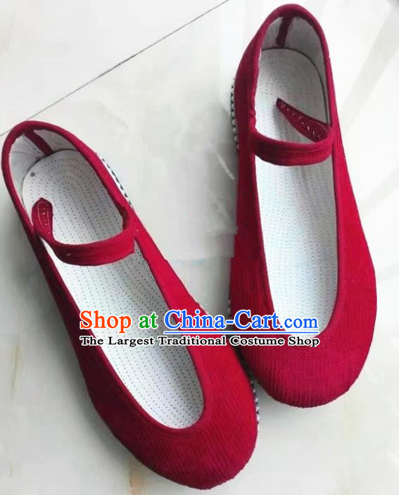 Chinese Traditional Hanfu Shoes Red Shoes Handmade Cloth Shoes for Women