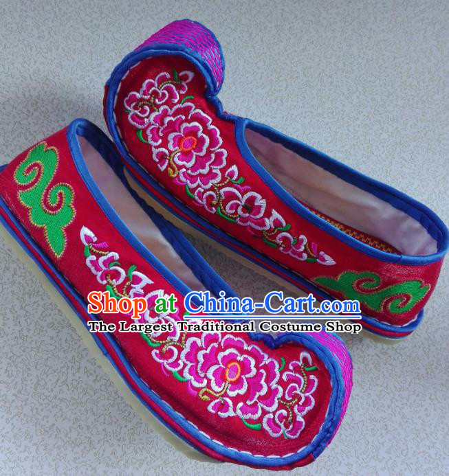 Chinese Traditional Hanfu Wedding Shoes Ancient Princess Embroidered Shoes Handmade Shoes for Women