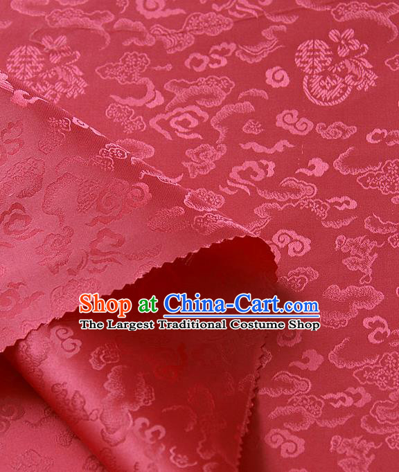 Traditional Asian Classical Cloth Drapery Red Brocade Korean Hanbok Palace Satin Silk Fabric