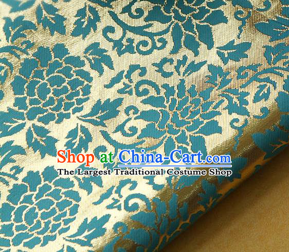 Traditional Asian Classical Gilding Pattern Brocade Cloth Drapery Korean Hanbok Palace Satin Silk Fabric