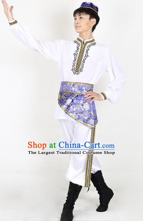 Chinese Traditional Uyghur Folk Dance Clothing Classical Dance Costume for Men