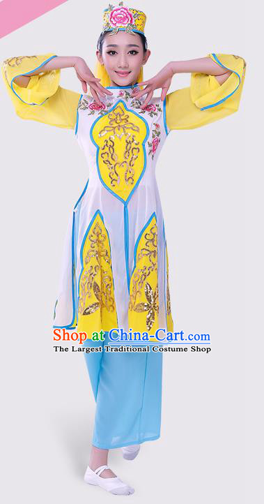 Chinese Traditional Hui Minority Dress Ethnic Folk Dance Costumes for Women
