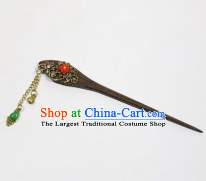 Chinese Traditional Palace Hair Accessories Wood Hairpins Ancient Bride Hair Clip for Women