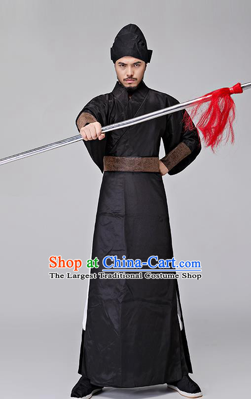 Traditional Chinese Three Kingdoms Period Swordsman Costumes Ancient Drama Knight Clothing for Men
