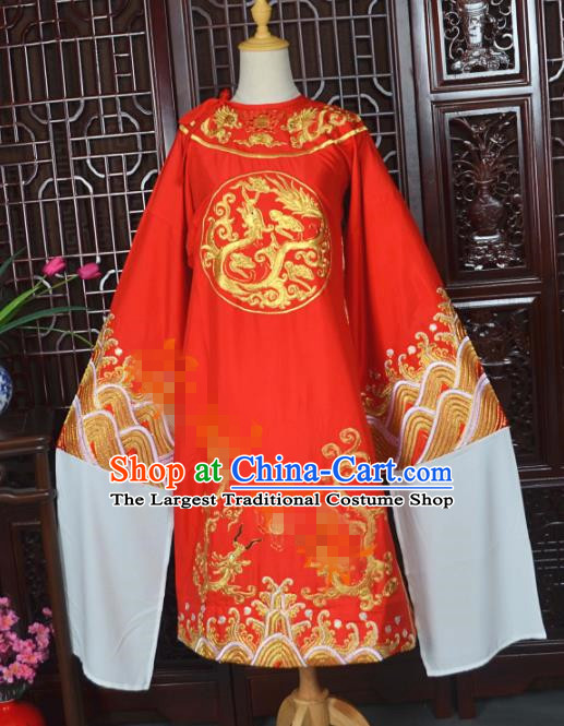 Traditional Chinese Beijing Opera Costumes Ancient Empress Red Dress for Adults