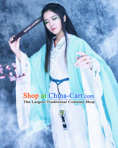 Traditional Chinese Cosplay Female Knight Costumes Ancient Swordswoman Hanfu Dress for Women