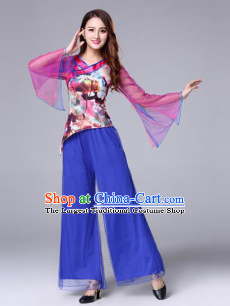 Traditional Chinese Folk Dance Fan Dance Costumes Yanko Dance Clothing for Women
