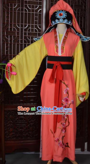 Top Grade Chinese Beijing Opera Costumes Peking Opera Niche Embroidered Robe and Hat for Adults