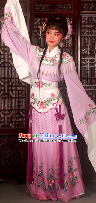 Traditional Chinese Peking Opera Costumes Ancient Peri Princess Lilac Dress for Adults