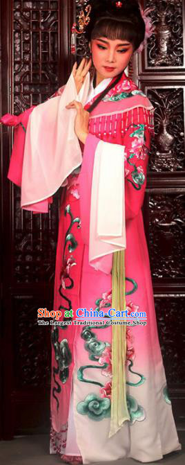 Traditional Chinese Peking Opera Imperial Consort Costumes Ancient Peri Rosy Dress for Adults
