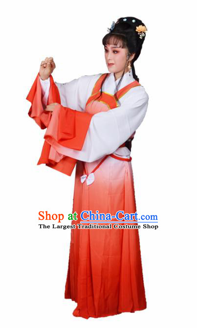Traditional Chinese Beijing Opera Actress Costumes Ancient Peri Red Dress for Adults