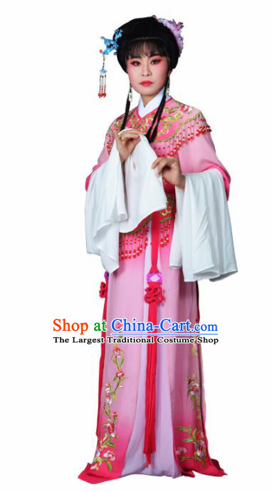 Traditional Chinese Peking Opera Palace Princess Costumes Ancient Peri Pink Dress for Adults