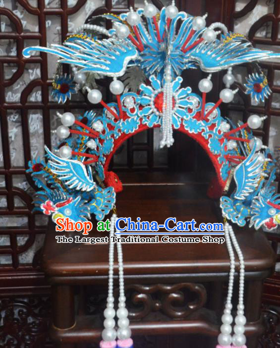 Traditional Chinese Beijing Opera Phoenix Coronet Hair Accessories Ancient Princess Headdress for Women