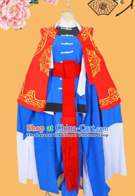 Professional Chinese Peking Opera Takefu Costumes Ancient Swordsman Clothing and Hat for Adults