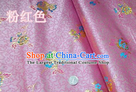 Traditional Chinese Royal Pattern Pink Brocade Tang Suit Fabric Silk Fabric Asian Material