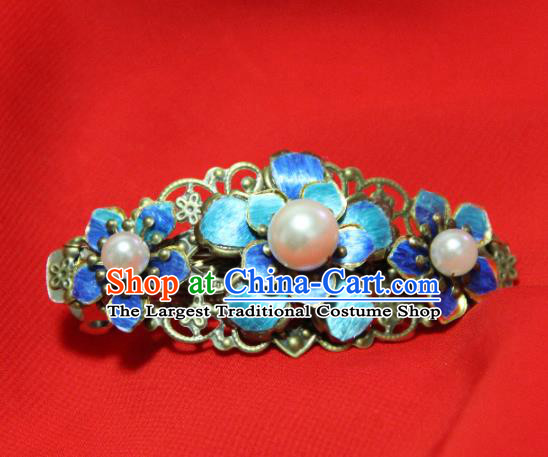 Traditional Chinese Ancient Blueing Hair Claw Tang Dynasty Princess Hair Accessories Hairpins for Women
