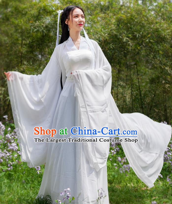 Chinese Ancient Swordswoman Little Dragon Maiden Hanfu Dress Traditional Song Dynasty Drama Knight Costumes for Women