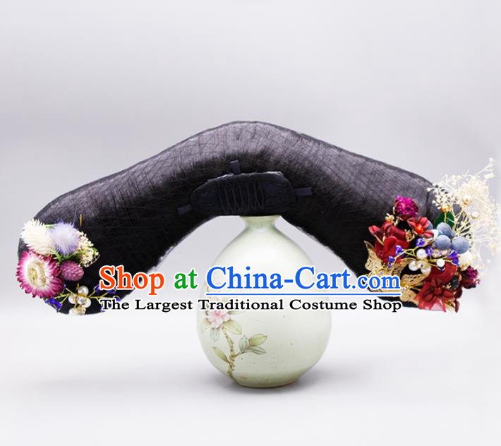 Chinese Traditional Qing Dynasty Hair Accessories Ancient Court Maid Wigs and Hairpins for Women