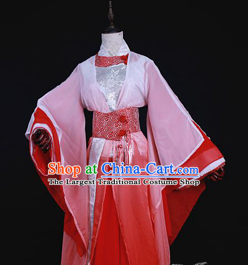 Chinese Traditional Ancient Swordswoman Princess Costumes for Women