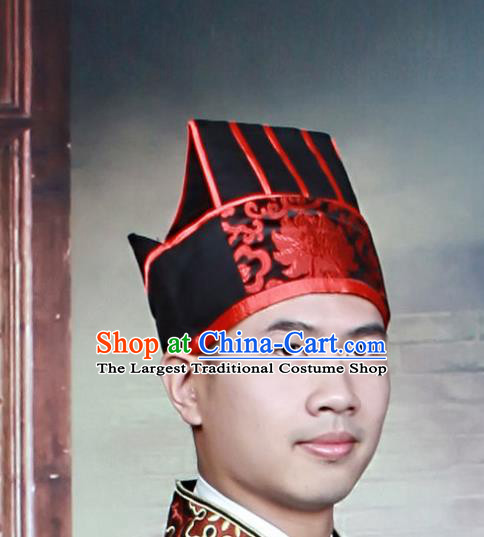 Chinese Traditional Hair Accessories Ancient Ming Dynasty Scholar Hat Headwear for Men