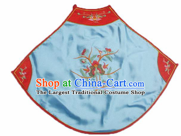 Chinese Traditional Underwear Ancient Costume Embroidered Blue Bellyband for Women