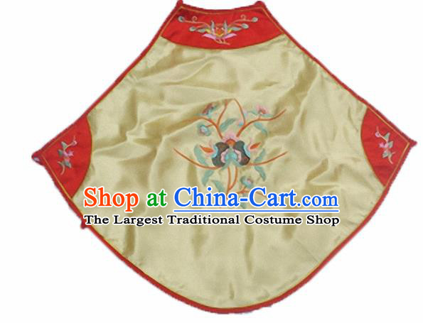 Chinese Traditional Underwear Ancient Costume Embroidered Yellow Bellyband for Women