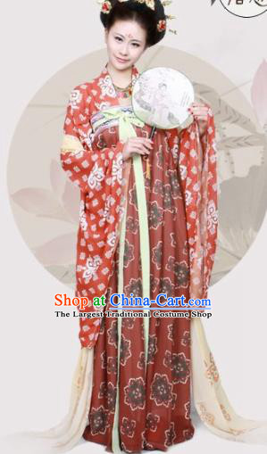 Chinese Traditional Hanfu Dress Ancient Tang Dynasty Princess Costumes for Women