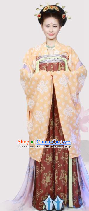 Chinese Traditional Hanfu Dress Ancient Tang Dynasty Imperial Consort Costumes for Women